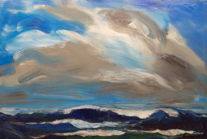 Ocean Sky Series #3 by Sandy Roumagoux